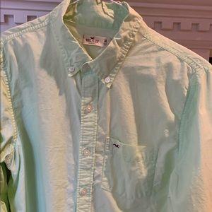 Hollister light green long sleeved shirt